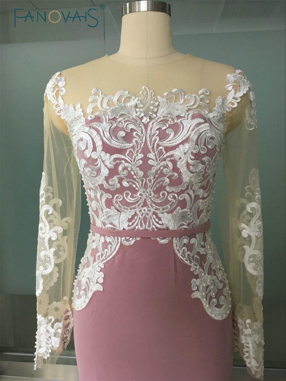 2017 New Design White Lace Applique Mermaid Evening Dresses