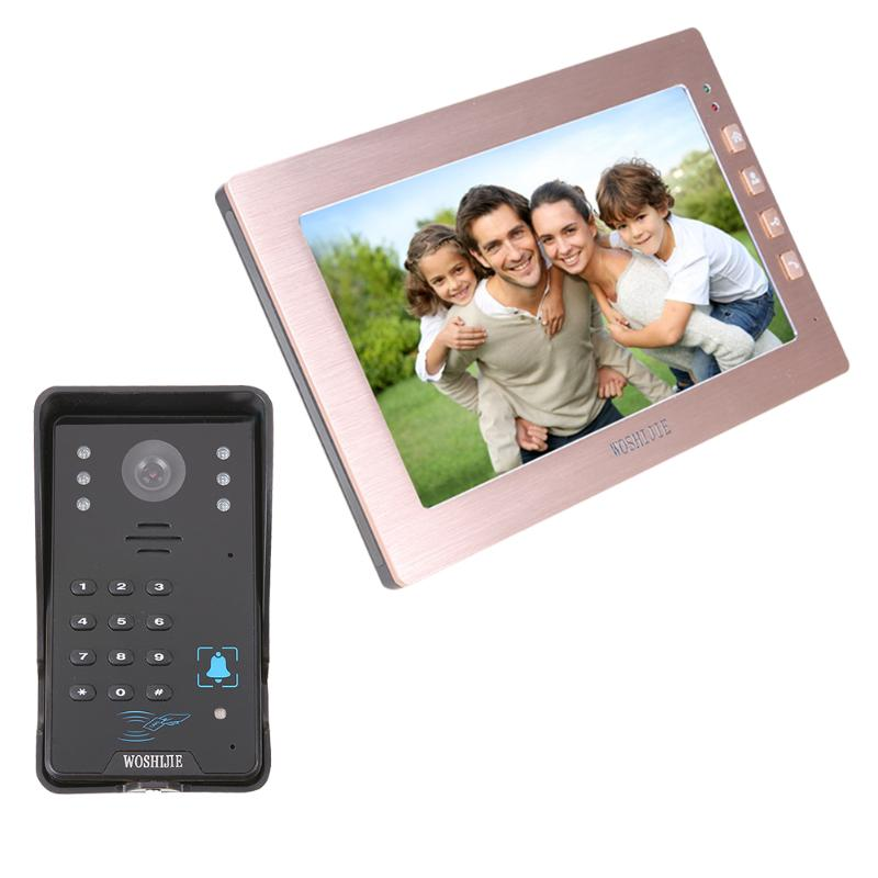 HD 10.1Inch Wireless Video Intercom Villa Doorbell Waterproof One Drag One