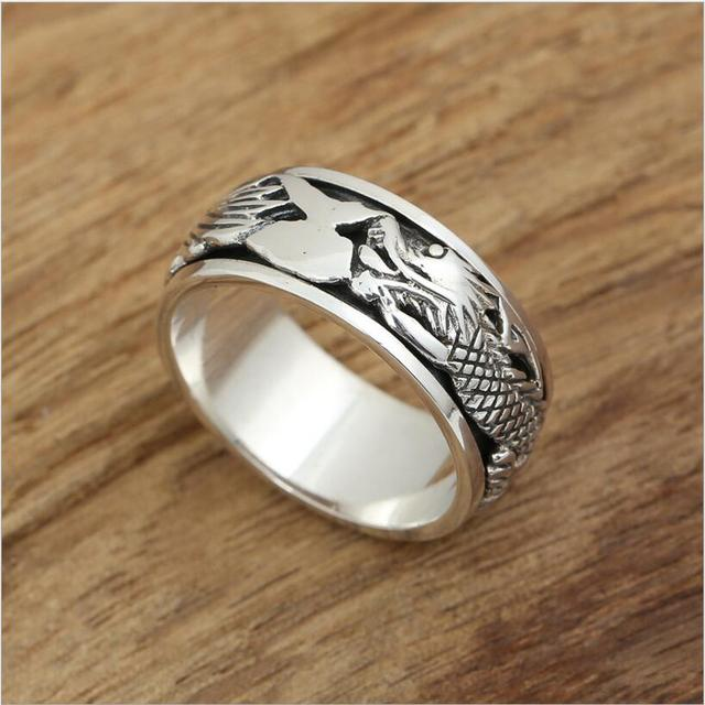 Hot Sale 100 Real Pure 925 Sterling Silver Ring For Men jewelry