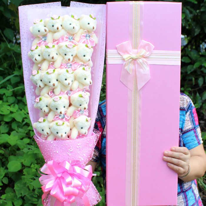15 Gaya Kawaii Teddy Bear + Sabun Bunga Mainan Mewah untuk Gadis Beruang Boneka Kartun Bunga Bouquet Valentine Wisuda Ulang Tahun hadiah