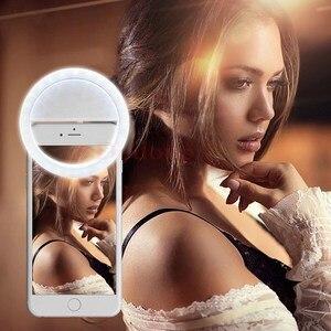 Image 5 - Lámpara de luz LED recargable portátil para fotografía, luz de Flash para Selfie, anillo de luz para teléfono, luz de vídeo nocturna, novedad de 2018