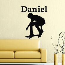 YOYOYU Wall Decal Vinyl Sticcker Personalized Name Poster Skate Stickers Art Removeable Boy Nursery Room YO357