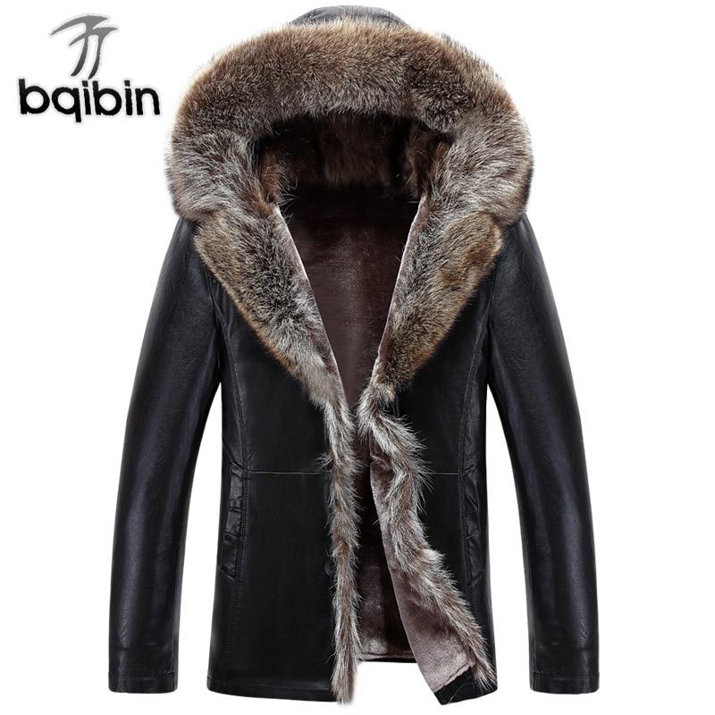 Hiver PU vestes en cuir manteau hommes fourrure à capuche Faux cuir vestes épaissir hommes hiver manteau grande taille 3XL 4XL