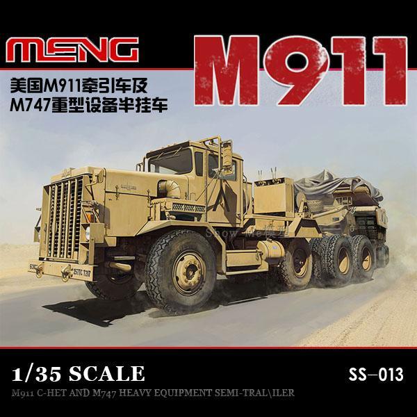 Meng Model 1 35 SS 013 M911 C HET 8x6 M747 Heavy Equipment Semi Trailer