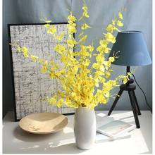 new Butterfly Orchid Silk Flower Artificial Flowers Bouquet Phalaenopsis for Wedding Home Decoration