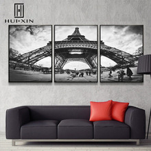 Modern Lines Construction Palatial Eiffel Tower Majestical Abstract Chic Wall Paintings Art Canvas Posters for Home Decoration