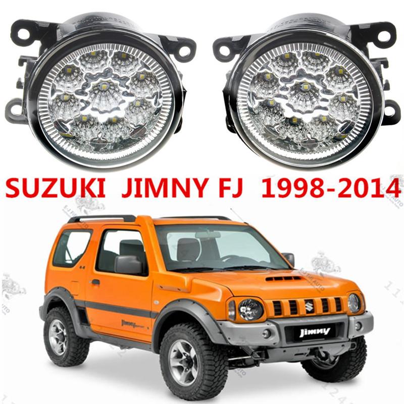 Prix pour Pour SUZUKI JIMNY FJ Fermé les Véhicules Hors Route 1998-2014 Car styling pare-chocs avant LED brouillard Lumières haute luminosité brouillard lampes 1 set