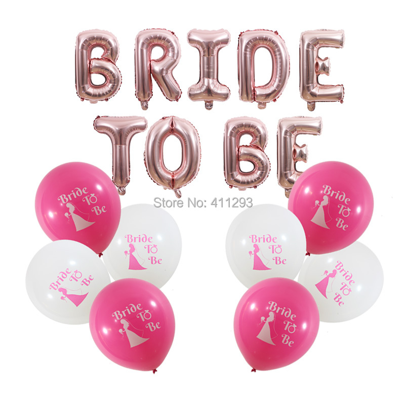 bride to be balloon bridal shower balloons Bachelorette Party Decorations rose gold bride to be letter banners hen party balls