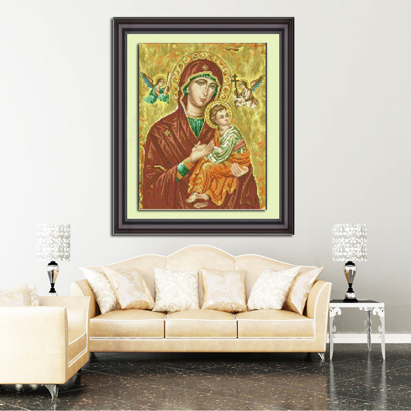 2018 Direct Selling Top Fashion Diy Diamond Painting Full Square Paiting Religion 40*50cm Cross Stitch Decor Home Free Shipping