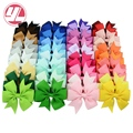 Mixcolor 40Pcs/lot  3 Inch Grosgrain Ribbon Hairpins Baby  Girl Bows With Clip Hair Clips Kids Hair Accessories 564