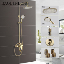 BAOLINLONG Brass Bathroom Shower Tub Mixer Faucet Head Tap Hand Shower head System free shipping wholesale and retail promotion telephone style shower faucet antique brass shower head bathroom mixer tap hj 6051