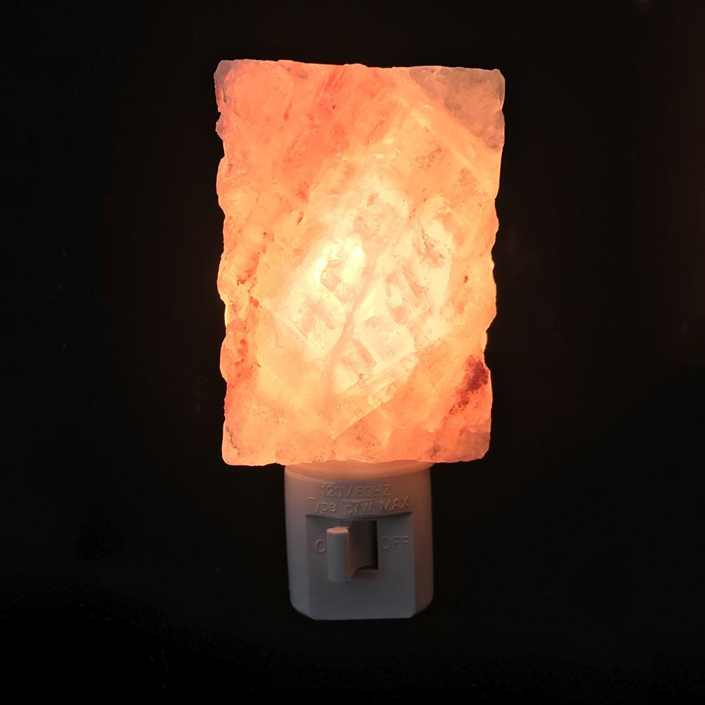 LED Night Light EU/US plug Himalayan Salt Lamp Air Purifier Crystal Salt Rock Night Lamp For Office Desk Bedside Bedroom crystal salt lamp night air purifier light dimmer button switch table desk light bedside au plug e14 bulb wooden base home decor