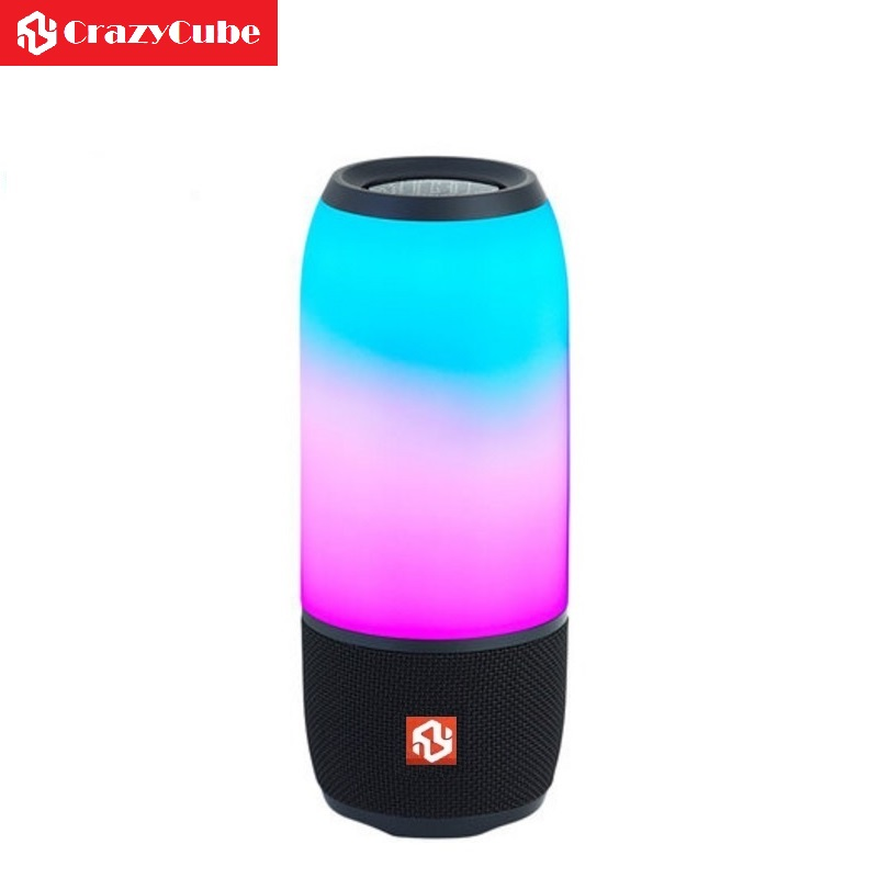 CrazyCube Pulse 3 Cool LED Lighting Portable Bluetooth Speaker as  element t6 with Touch Key 8W dual passive bass unit 6d50a 120elx 50a1200v 6 element darlington with brake unit module