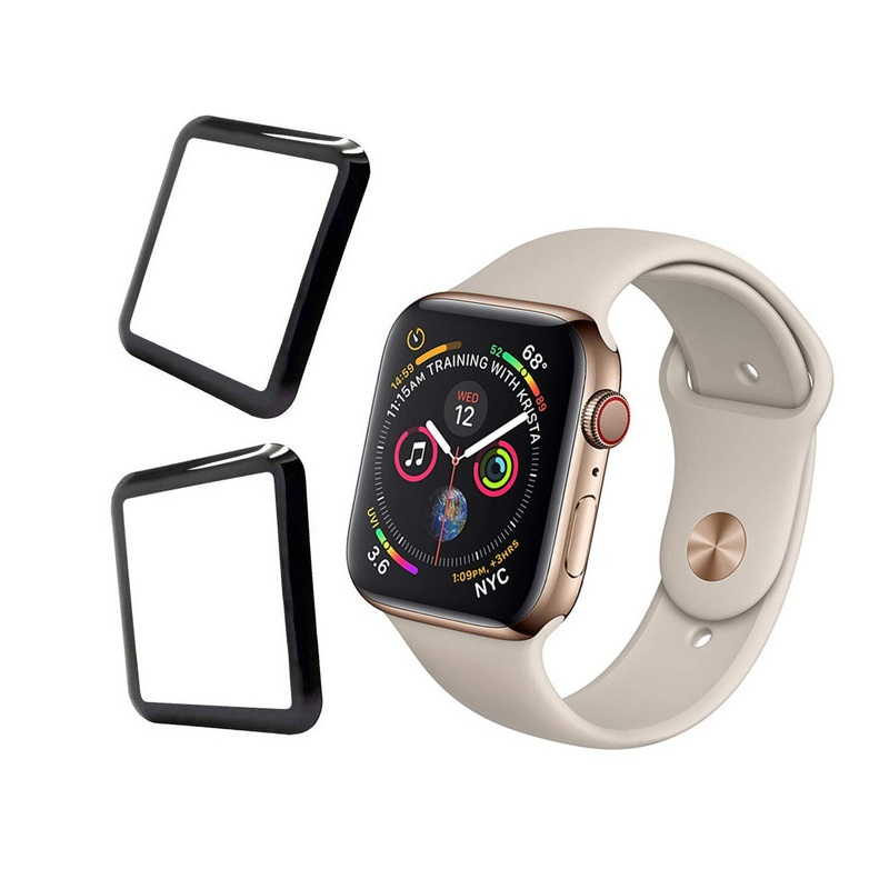 3D Curved Full Coverage Protective Film For Apple Watch 38mm 40mm 44mm 42mm Tempered Glass Screen Protector Cover for iWatch-in Smart Accessories from Consumer Electronics