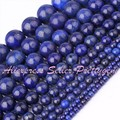 "Round Lapis Lazuli Blue Gem Stone Beads Strand 15"" 3,4,6,8,10,12,16,20mm For DIY Necklace Bracelet Jewelry Making,Free Shipping"