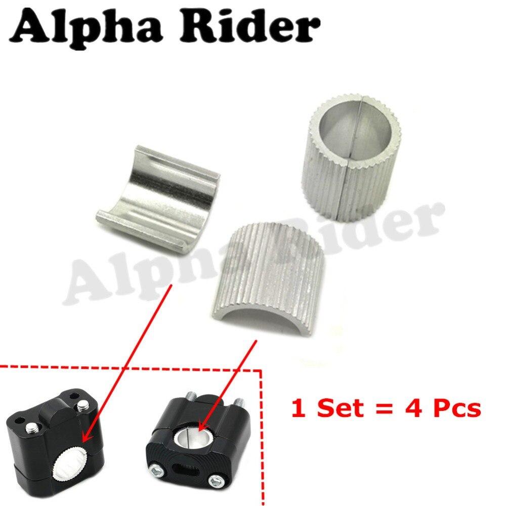 """Speciale Sectie Aluminium Motorfiets Motocross Pit Crossmotor Handle Bar Clamp Adapters Stuur Riser Spacers Voor Verandering 1-1/8 """"28 Mm-22 Mm 7/8"""" Snelle Warmteafvoer"""