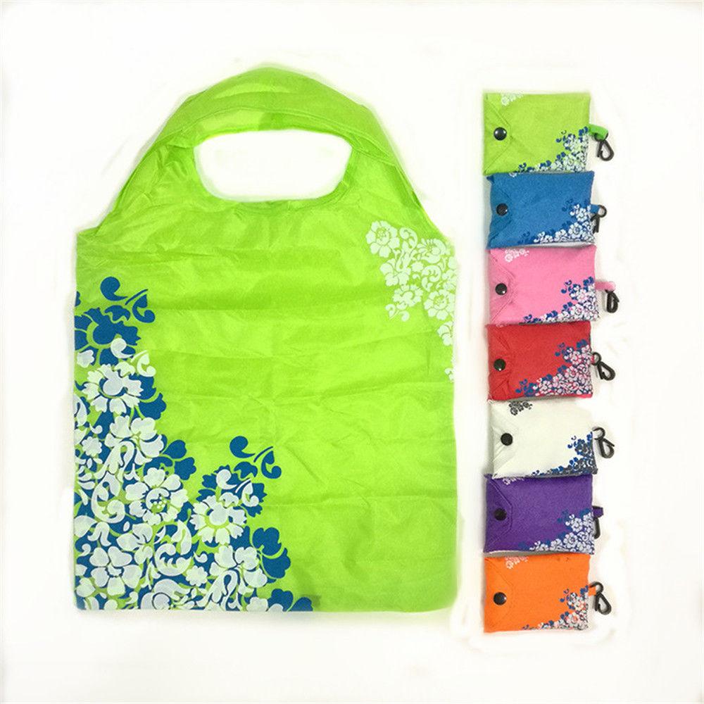 Women Handbags Large Capacity Foldable Shopping Bag Travel Tote Reusable Shopping Bag Foldable Grocery Bags floral folding reusable grocery nylon bag large strawberry shopping bag cute travel tote