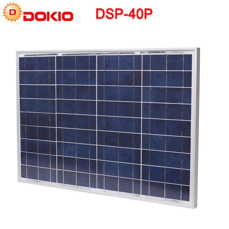 DOKIO 40 watt Polykristalline Solar Panel zonnepanelen usb Silicon Power Painel für yachten Solar Batterie china Solar Fotovoltaico