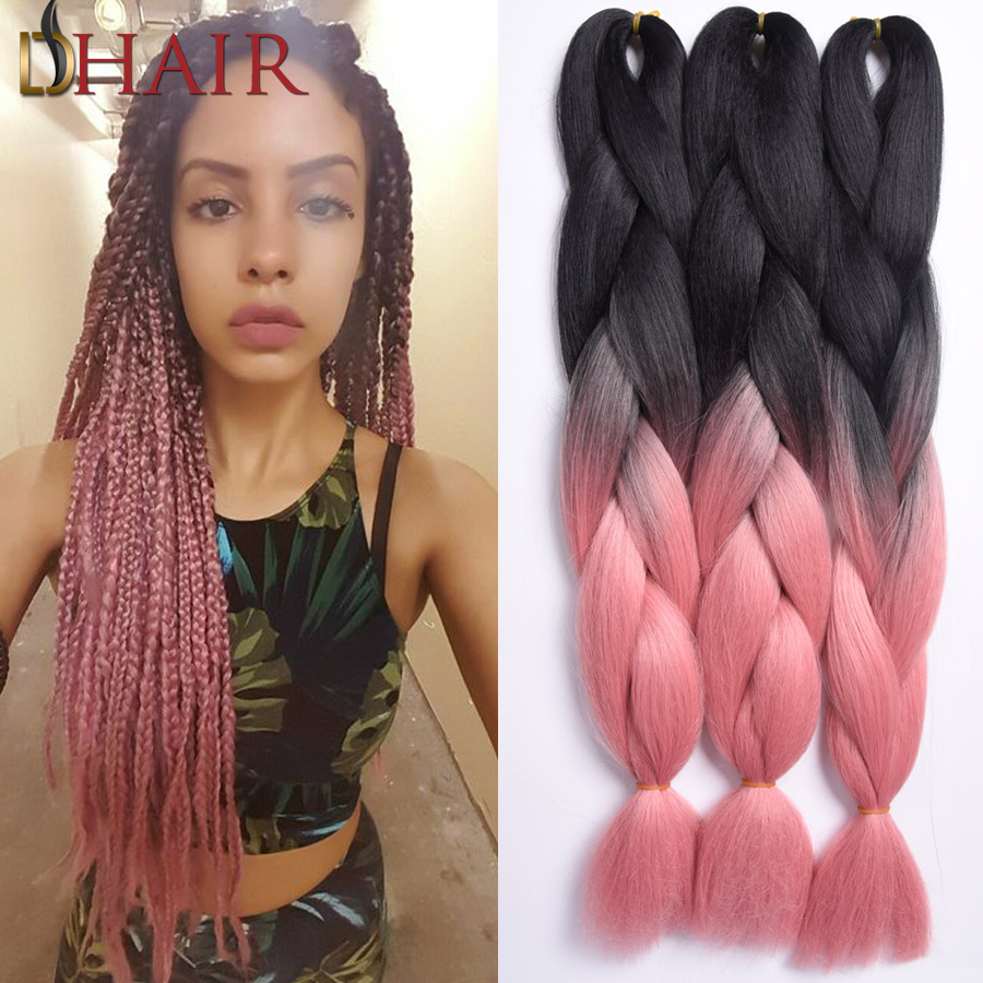 Popular Silky Straight Kanekalon Braiding Extension Hair