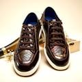 Молодежи Тенденция Мужской Обуви Обувь Мода Англия Обувь Белый Фон Цвет Натуральная Кожа Полуботинки
