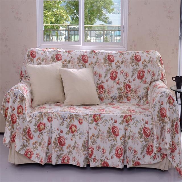 US $55.0 |free shipping hot sales Cotton fabric print single double  sectional sofa full sofa cover sofa set customize on Aliexpress.com |  Alibaba ...