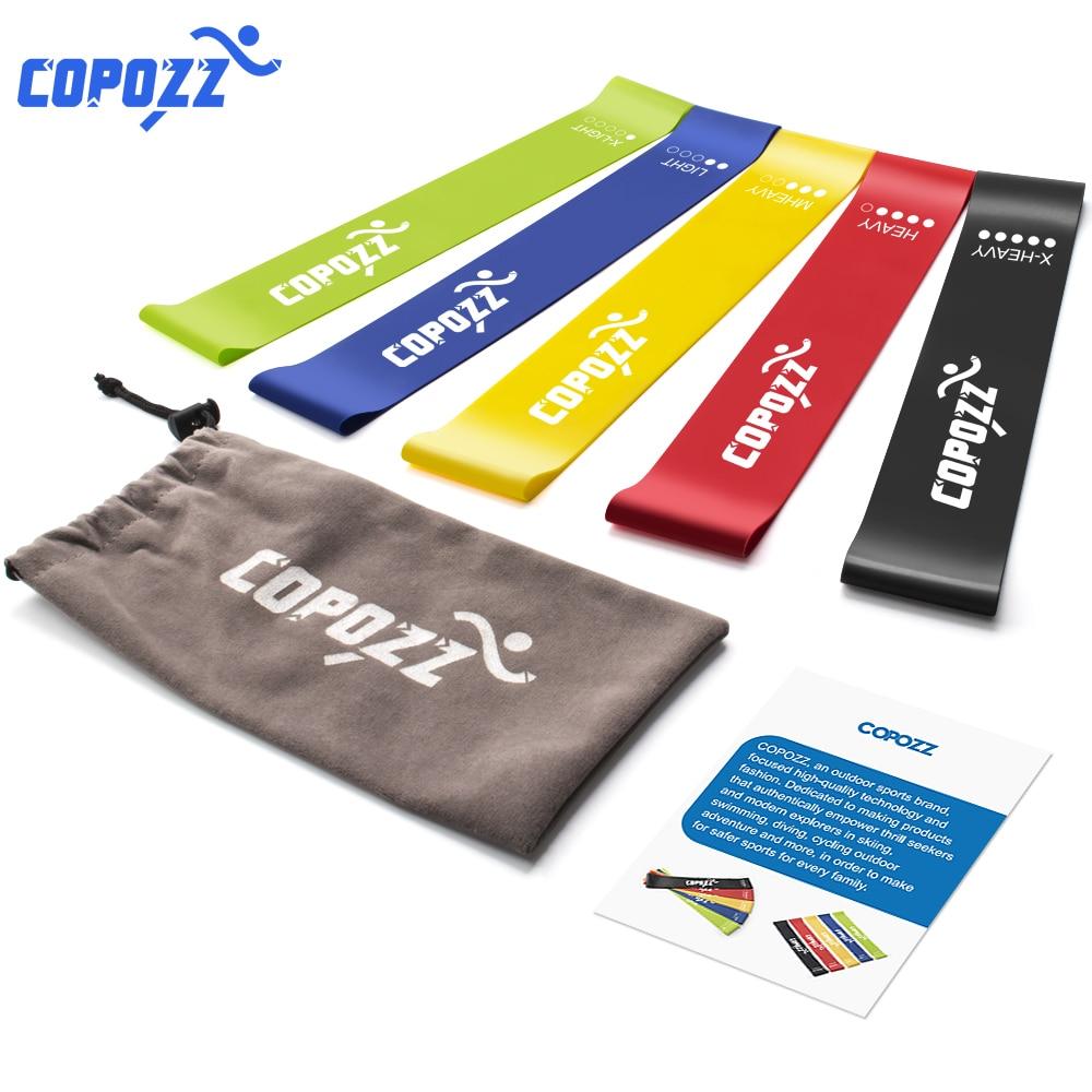 COPOZZ 30cm fasce di resistenza Set fascia elastica di resistenza lattice Mini Sport palestra allenamento Yoga Pilates esercizio attrezzature per il Fitness