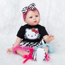 Baby Dolls 55cm Silicone Reborn babies Doll Cartoon gift  Baby Realistic Boneca Reborn Doll For Girls Toys цена в Москве и Питере