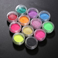 12 Pcs Mix Colors Acrylic Nail Art Glitter Powder Colorful Nail Pigment Chrome Decoration DIY Manicure For Women Lady Girl GUB#