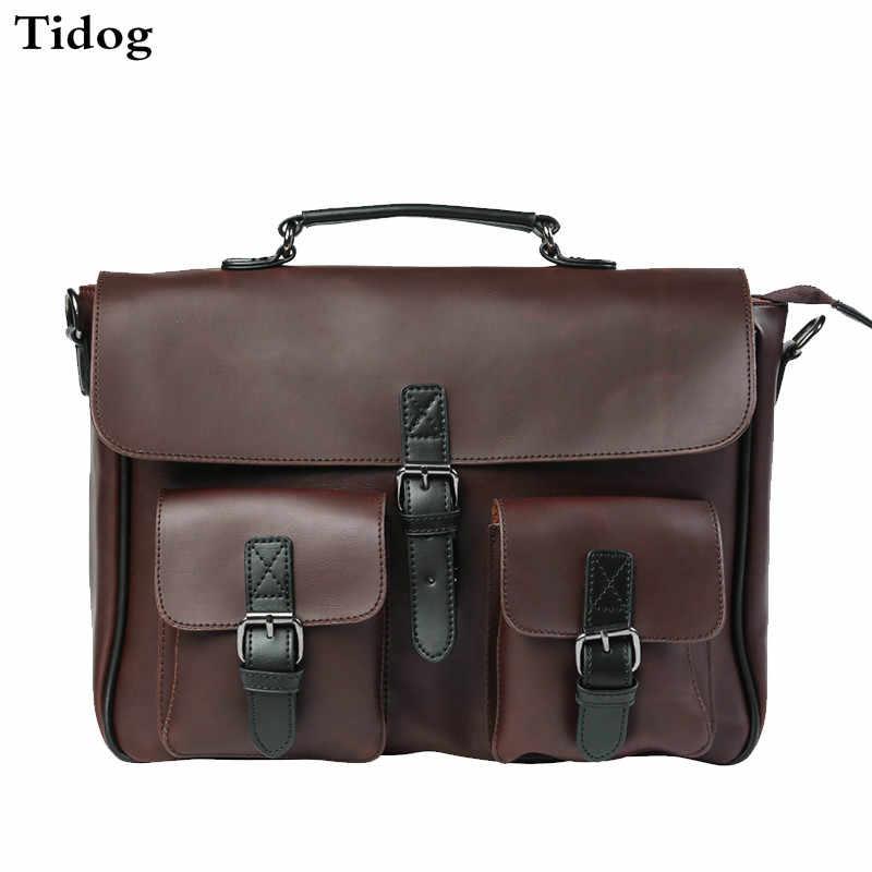 Tidog раскладушка Мужская поперечная сумка-мессенджер деловой портфель
