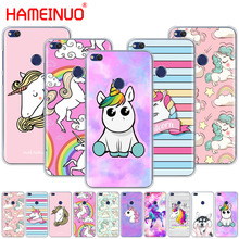 HAMEINUO Rainbow Unicorn Cover phone Case for huawe