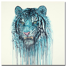 High Quality printed painting tiger Wall Decor Oil Painting On Canvas art Art home decoration canvas
