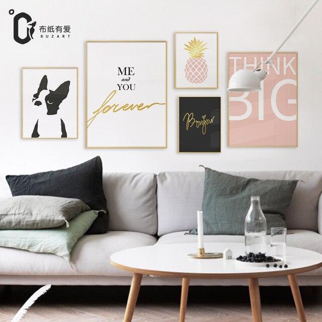 Altijd liefde Nordic stijl canvas schilderijen voor woonkamer modern ...