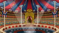 Magical Show light Circus Stage Grand Entrace Tent backdrops Vinyl cloth High quality Computer printed party Backgrounds