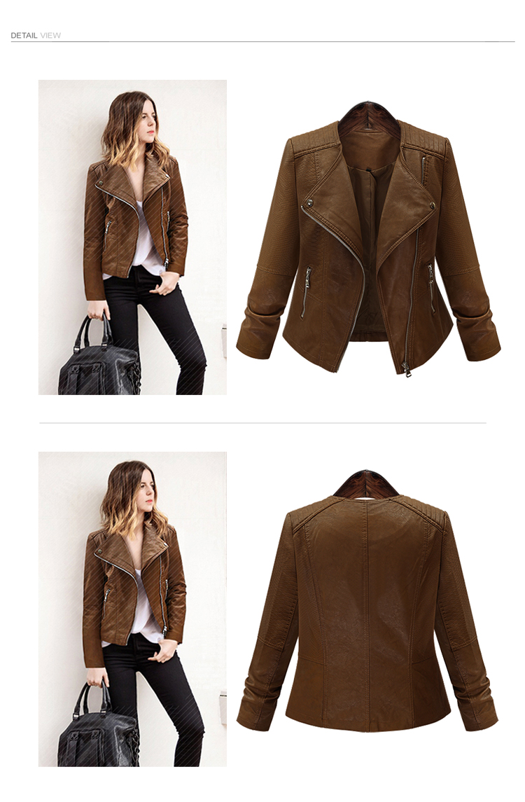 516e9bcc26e8 Long Sleeve Women Pu Leather Jacket – Alltrendystuff.com