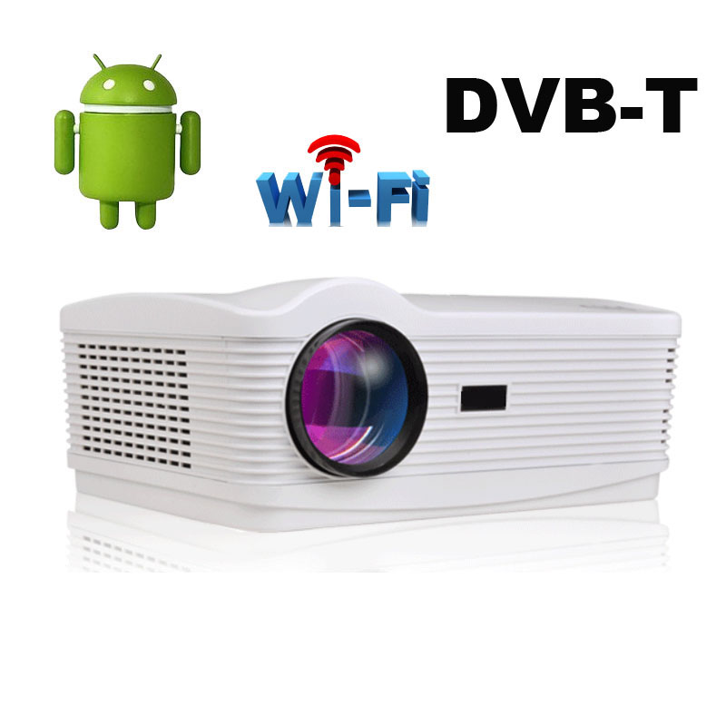 Quad core Android 4.4 Wifi 5500Lumen DVBT TDT digital TV Best Led 3D Home Projector Full HD 1080P Multimedia Video Beamer