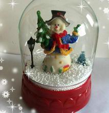 Snow ball snowman Santa Claus windmill music box of Christmas gifts snow windmill snowflake ball creative gifts