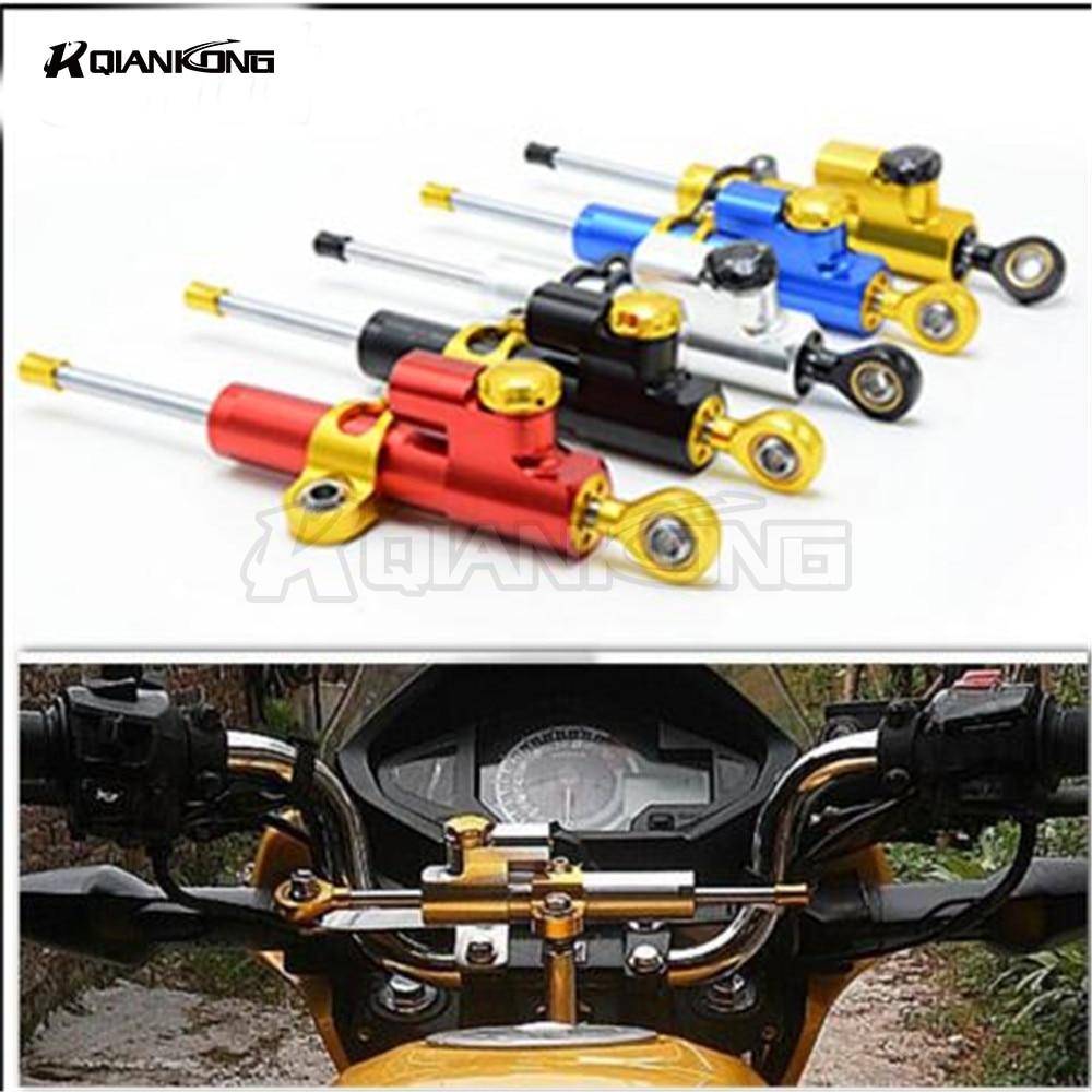 R QIANKONG Universal Aluminum CNC Steering Damper For honda MSX PCX 125/150 CBR900RR CBR 900 RR 1993-2015 HORNET CBR600 K1 K2 K3