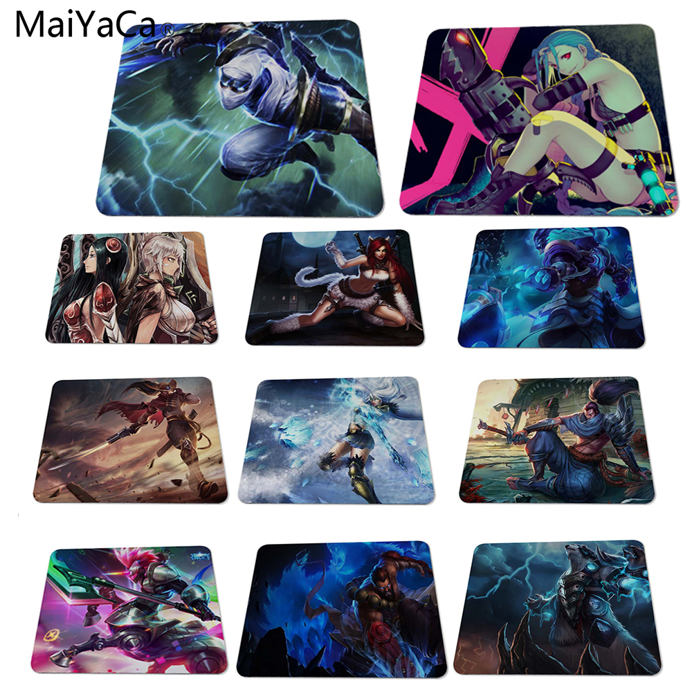 MaiYaCa kjølig spill for legenes league Custom Design Rectangle Gaming Computer Mouse pads 180x220x2mm