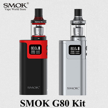 Electronic Cigarette Kits Vape Box Mod Kit Vaporizer E Cigarette SMOK G80 Kit Vape Mod for Spirals Tank Big Smoke Atomizer S023