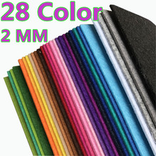 28 Color 30*30cm 2MM Thick Fabric Felt Non Woven Polyester Cloth Multi For DIY Dolls Sewing Crafts Home Decoration