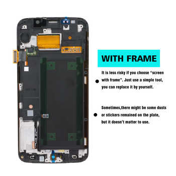 ORIGINAL 5.1\'\' SUPER AMOLED Display for SAMSUNG Galaxy S6 edge LCD + Frame G925 G925I G925F Touch Screen Digitizer+Service pack
