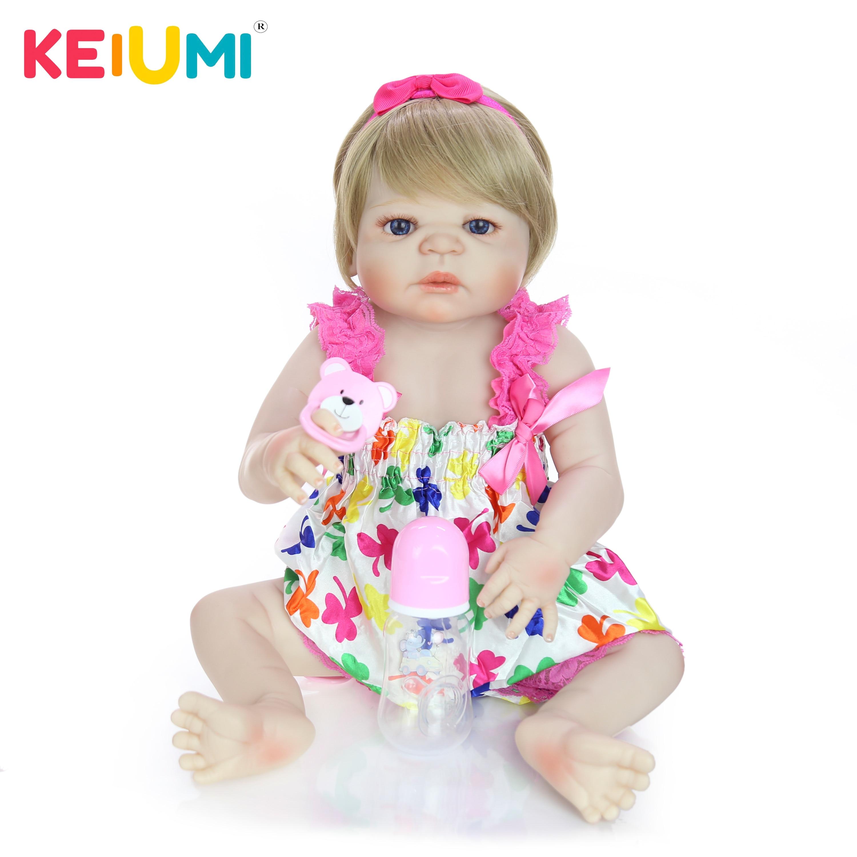 23 Polegada boneca do bebê realista completa silicone vinil menina boneca reborn bebê boneca no brasil para venda presentes de natal do miúdo melhor playmate