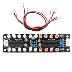 Image 5 - Dual 10 LED Music Audio Spectrum Indicator Blue+Red Color Flash Rhythm Display Light Level Indicator DIY finished board