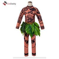 Moana Cosplay Costume Maui Outfit Clothes Costumes Auti Party CosDaddy