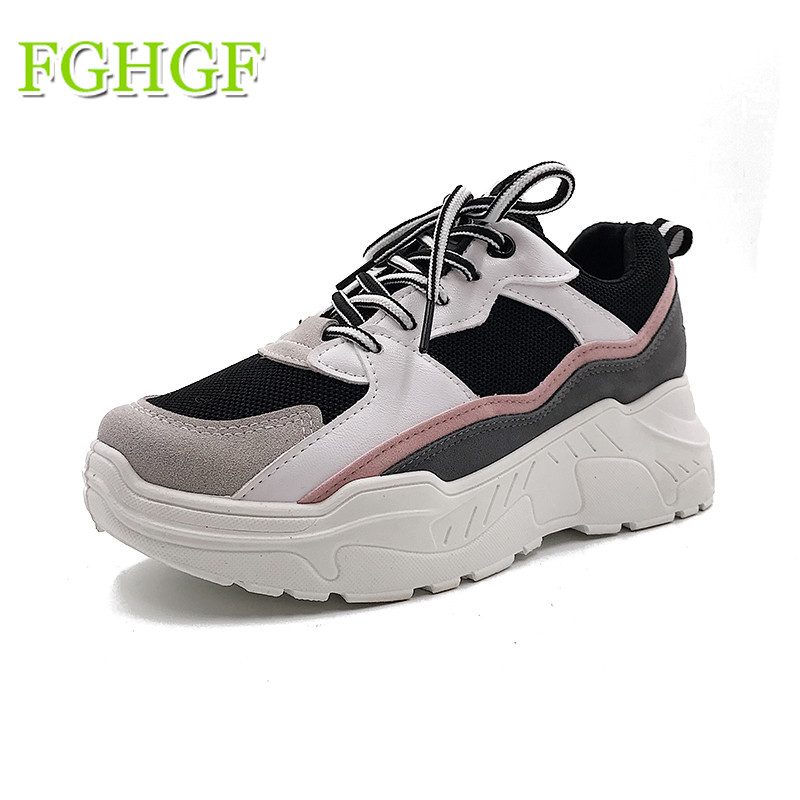 Breathable Air Mesh Women Casual Shoes 2018 Spring Women Sneakers Shoes Fashion Lace Up Flat Outdoor Shoes Ladies Tenis Feminino smile circle spring autumn women shoes casual sneakers for women fashion lace up flat platform shoes thick bottom sneakers