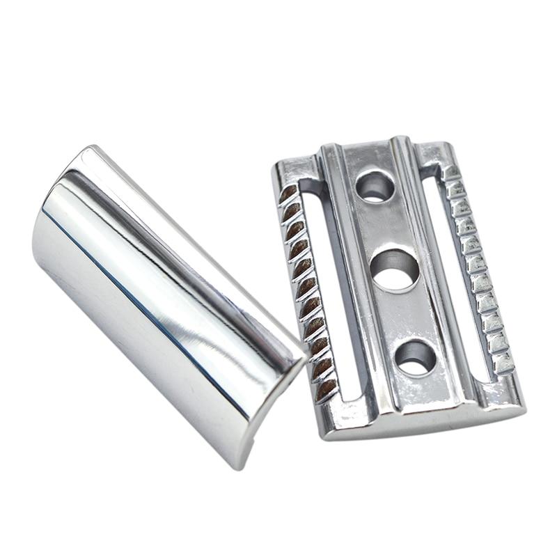 Dscosmetic Classic Double Edge Safety Razor Head With Chrome Color Zinc Alloy  Shaving Razor Head