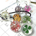 1 шт. Новая Мода Очки сухой цветок кулон ожерелье для женщин колье кожа цветок ожерелье 7 цвет лучшие подарки