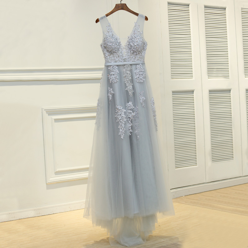 Lace Beading   Evening     Dresses   Bride Banquet Elegant Floor-length Robe De Soiree Sexy Backless Long Party Prom   Dress
