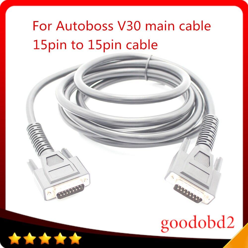 Prix pour Pour AutoBoss V30 principal Test de Câbles OBD-II Auto Scanner V-30 de diagnostic outil de voiture OBD2 Câble De Voiture Obd ii V30 broches à broches câble