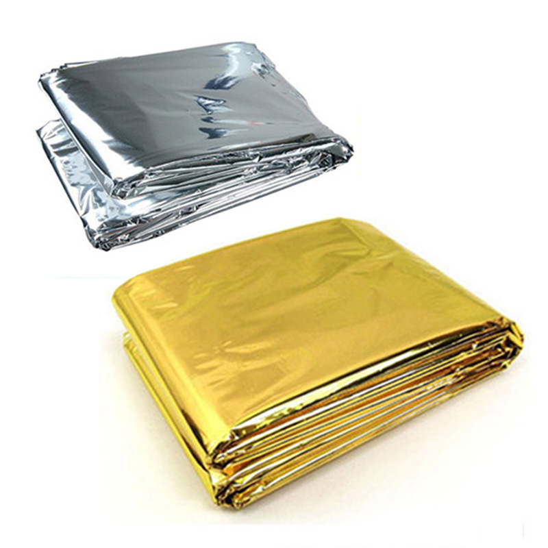 Outdoor Camping Waterproof Emergency Rescue Survival Blanket Life-saving Foil Thermal First Aid Thermal Insulation Mylar Blanket free shipping cold proof military first aid emergency blanket survival rescue curtain outdoor life saving tent